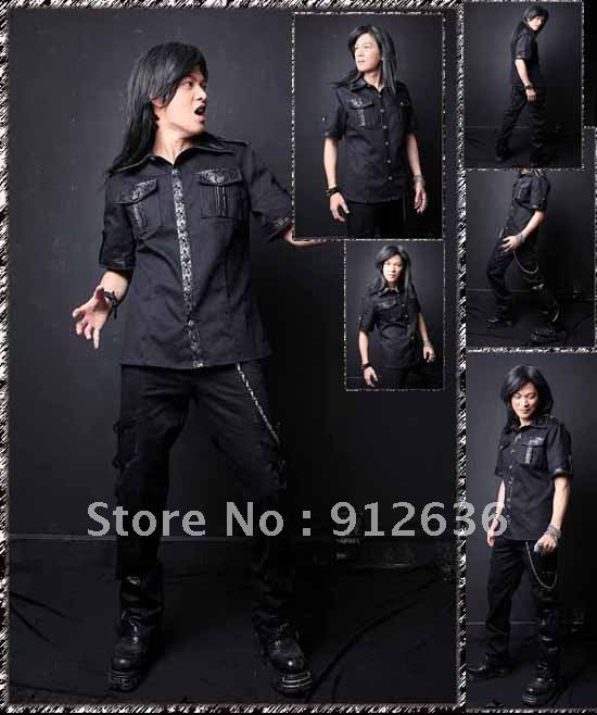 2012 Free Shipping High Quality Sexy Fashion Cheap China Steampunk Clothing Punk Rock And Gothic Clothing
