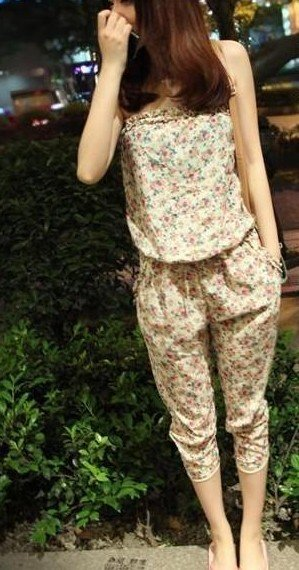 2012 Free shipping hot sale Leisure underwear Floral strapless sexy piece pants womans apparel s303