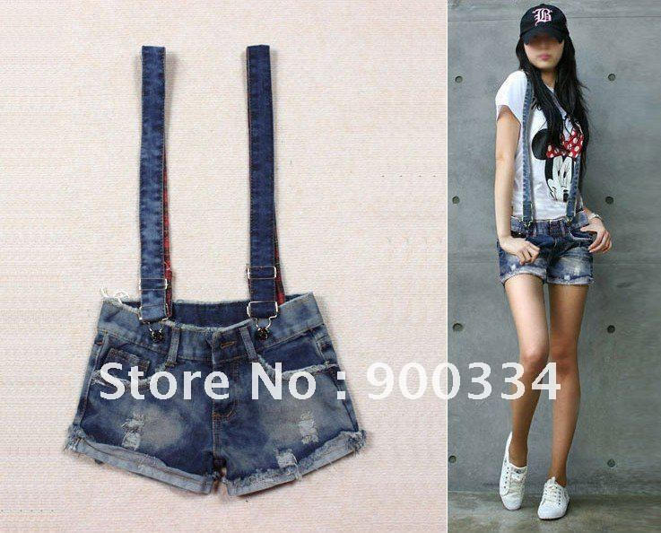 2012 Free shipping Hotsale Summer Women Short Jeans, Pants Jumpsuit Women, Women Overalls Jeans