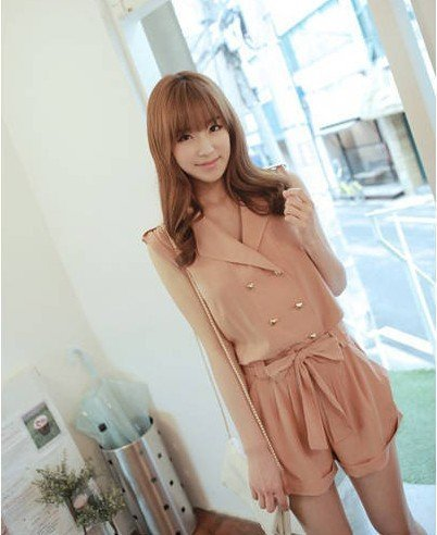 2012 Free shipping Women's  pants, rompers/Siamese Trousers/Jump-suit /summer slim jumpsuits beige--Drop-shipping acceptable