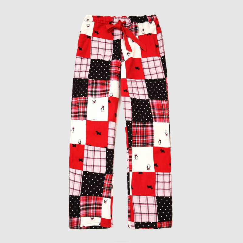 2012 handmade  100% cotton  casual loose lovers design  home pants  plus size