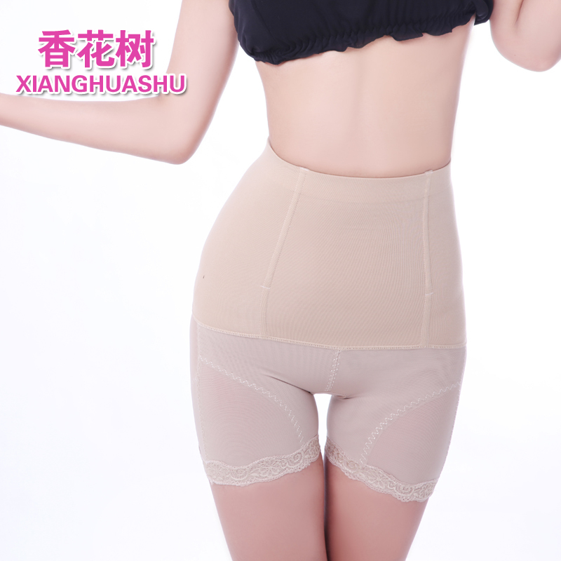 2012 high waist lace thin solid color body shaping butt-lifting abdomen drawing beauty care pants