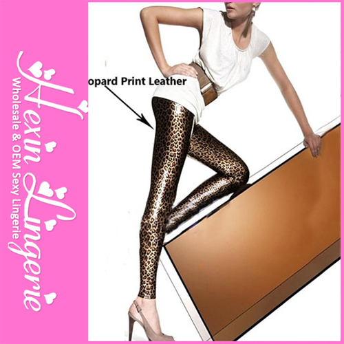 2012 HOT! Fashion High Quality Women Leopard Print Leather Leggings for Lady LB13138(S M L& XL Size)