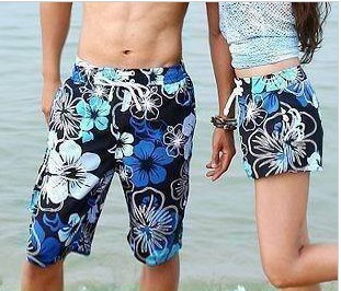 2012 HOT SALE Cotton flower lovers beach pants print beach pants shorts