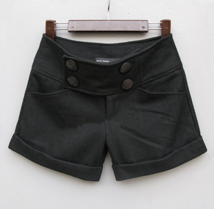 2012 hot-selling autumn and winter roll-up hem wool shorts boot cut jeans woolen boot cut jeans 2