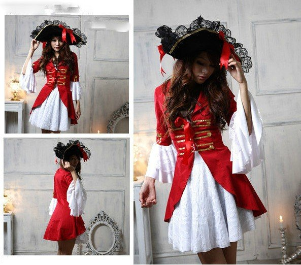 2012 Hot selling Halloween costume pirate outfit witch suit role playing suit nightclub loading stage party costumes