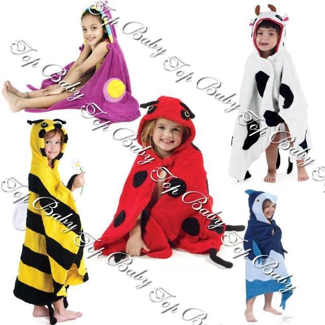 2012 Latest designtop baby cartoon style bath robe summer bathrobe kid's swimming towel baby boys girls Pajamas Retail 1pcs/lot