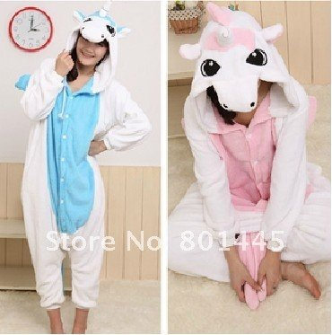 2012 long sleeve unicorn design adult romper nonopnd one piece stretchy sleepers for 145~180cm free shipping wholesale