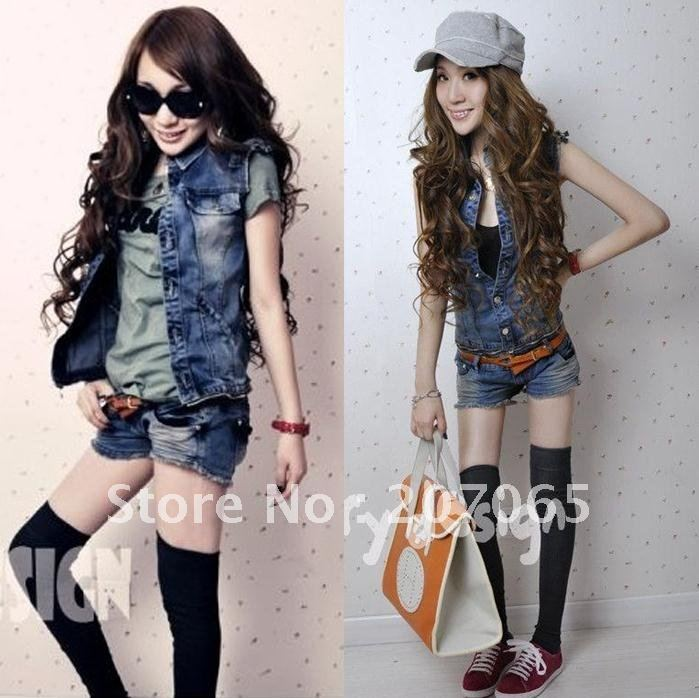 2012 low-waist split denim jumpsuit, vest shorts  jumpsuit.overall  size S,M,L free shipping