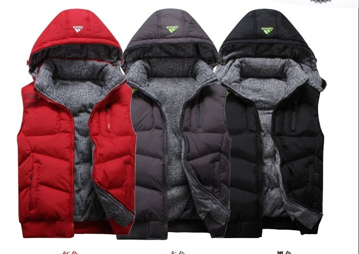 2012 Man leisure coat vest,women and man's fashion outerwear vest for winter muticolour, Freeshipping