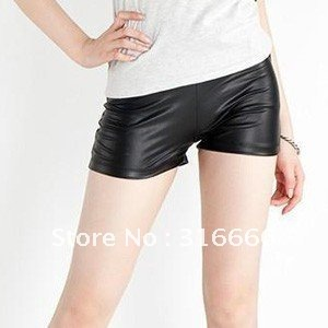 2012 new and fashion ladies' tight hotpants for spring and summer season.Imitation leather hotpants with two colors hot item!!