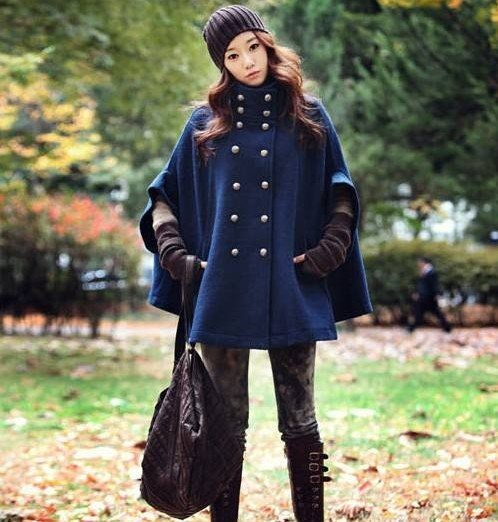 2012 new arrival autumn and winter female double breasted wool woolen cloak overcoat outerwear cape