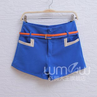 2012,new arrival,free shipping,european shorts, retro ,splice ,slim  shorts ,wholesale and retail!!!