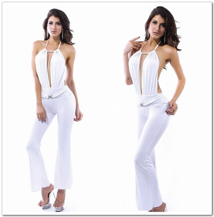 2012 New arrival!High quality sexy ladies' dress,fashion women jumpsuits,Free size,DL8251w,White