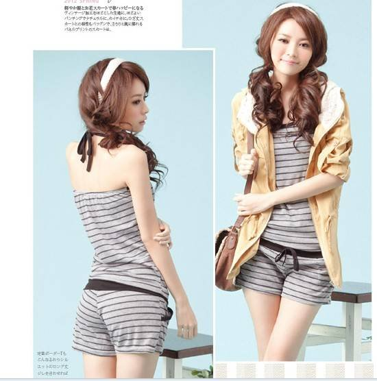 2012 New Arrival,ladies Fashion jumsuits/rompers,women elegant striped jumpsuits,free shipping,wholesale LP8204