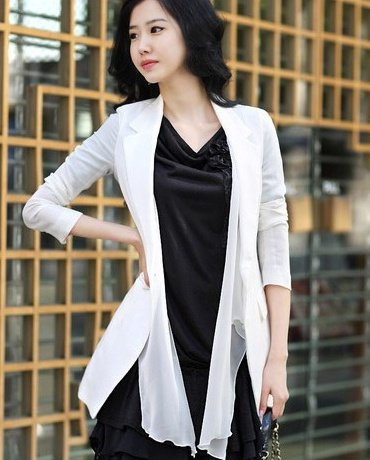 2012 NEW arrival OL's waist collect slim fit suit,Korean sweet style chiffon adorn coat,free shipping,139
