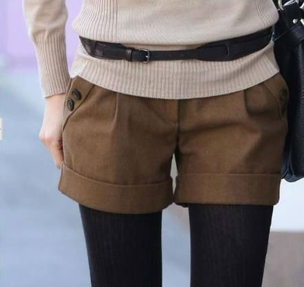2012 New Arrival Slim Woollen Shorts,Fashion Style Pants,Women Pants,Free Shipping