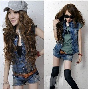 2012 New Arrival women denim jumpsuits/romper lady sleeveless vest+shorts clothing set women jeans overalls,S/M/L,free shipping