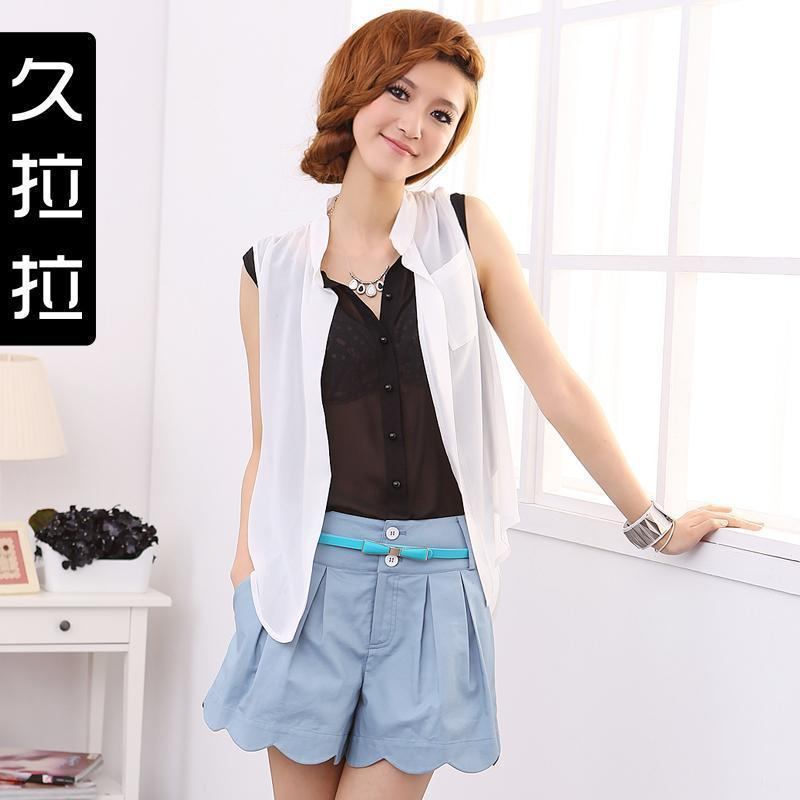 2012 New Arrivial Summer female petals all-match fashion slim shorts
