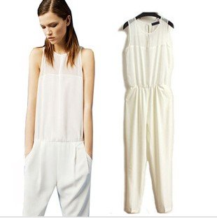 2012 new arrval fashion  backless tank top jumpsuit sexy cozy slim sleeveless overall casual Brand design