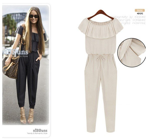 2012 new arrval fashion backless tank top Ruffles chiffion jumpsuit sexy cozy slim sleeveless overall casual Brand design