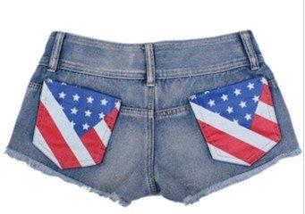 2012 new British flag cowboy hot pants Free of charge
