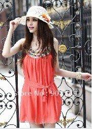 2012 new Chiffon Dress Popular Ladies skirts free shipping