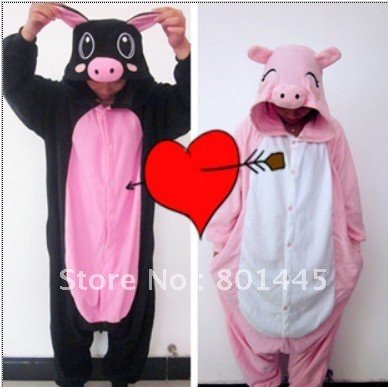 2012 New cute pig design long romper nonopnd one piece stretchy sleepers polar fleece for 145~185cm free shipping