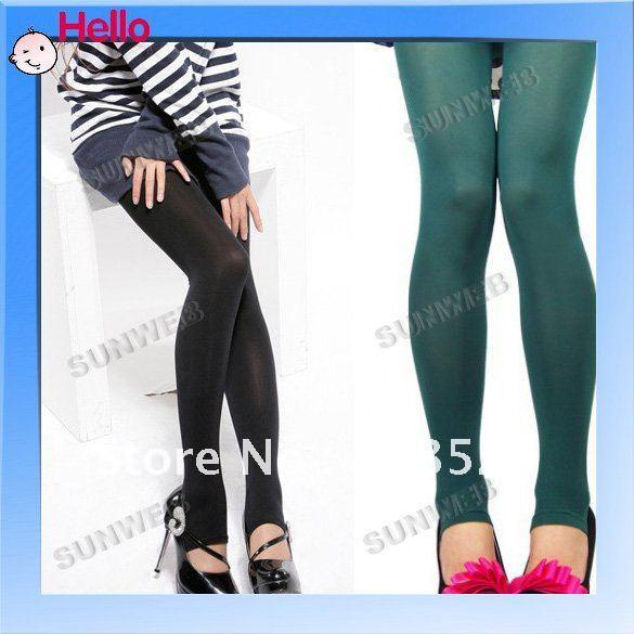 2012 new fashion Women's Opaque Tights Pantyhose 5 Colors Stockings Leggings Black/Grey/Purple/Coffee/Green 3345