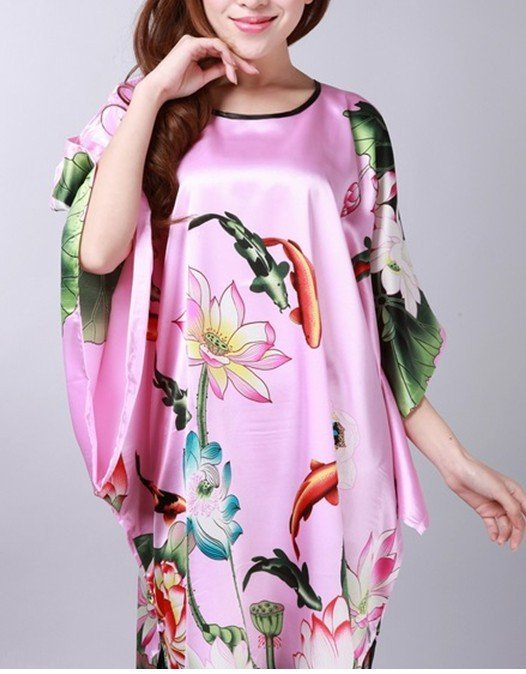 2012 NEW HOT   Chinese womens robe gown sleepwear  one size style