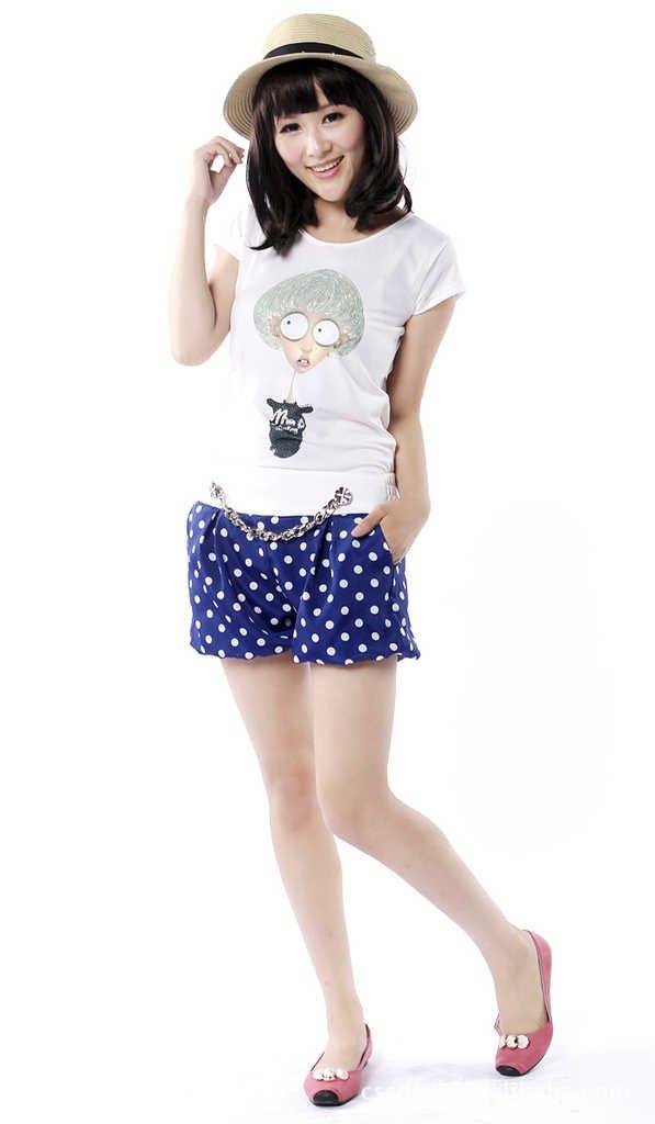 2012 new,Hot sell,Women's fashion dot Pencil short Pant/Hot Pant,ladies' sexy shorts,Free Shipping,x2340