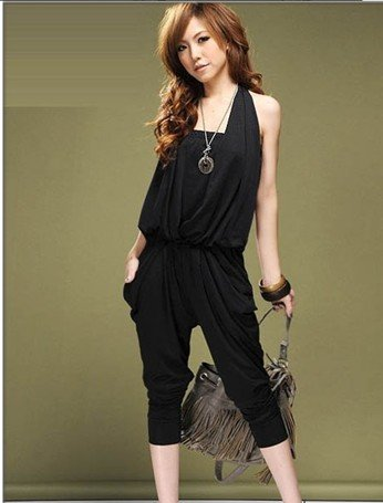 2012 new hot summer Fashion Cozy women clothes Piece shorts Halter Bra Harlan Slim jumpsuit Rompers Pants T-shirt