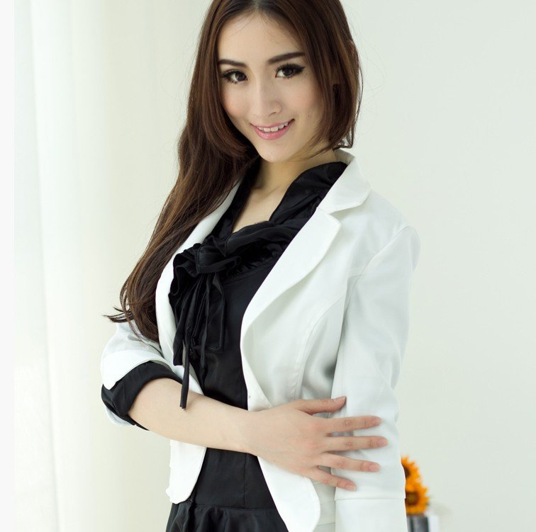 2012 new Korean spring women suit exquisite Slim Sleeve short paragraph blazers small suit jacket  Free Shipping