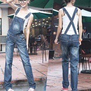 2012 new ORIX thin denim overalls big yards to do the old personality leisure straight overalls-G210