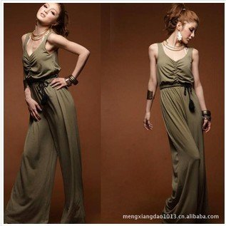 2012 new style Free Shipping ladies  jumpsuit / ladies cotton siamese trousers/ladies slim jumpsuit