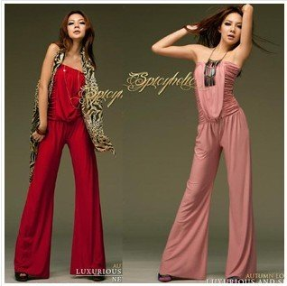 2012 new style Free Shipping ladies  jumpsuit / ladies milk silk siamese trousers/ladies slim jumpsuit 3 color