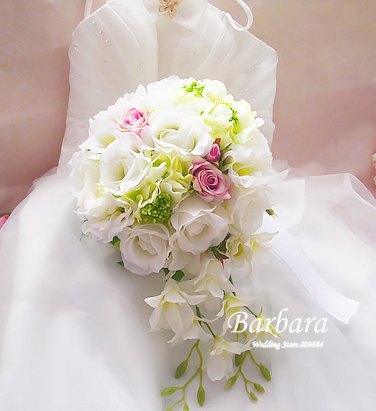 2012 NEW! Water droplets Wedding/Bridal bouquet Waterfall bouquet Simulation flower Free shipping