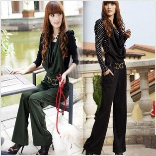 2012 new wide Song Halun pants, ladies casual strap was thin trousers