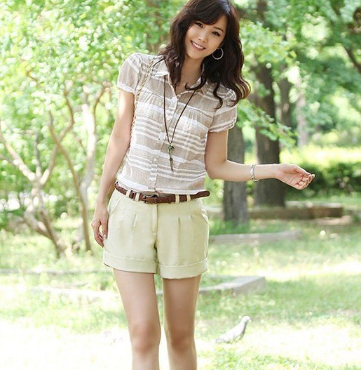 2012 Newest women's shorts, free shipping,fashionable lady's shorts pants beige white  dark blue S M L drop-shipping ok