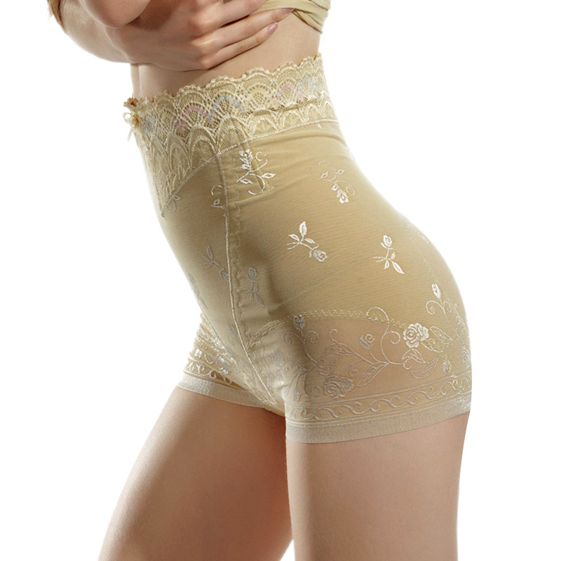2012 quality exquisite lace decoration high waist abdomen drawing beauty care butt-lifting pants