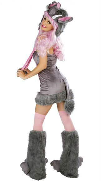 2012 sexy women furry elephants Halloween color game clothing cosplay outfit