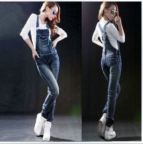 2012 Slim thin jeans, strap trousers, suspenders, pants, overalls, coveralls pants.
