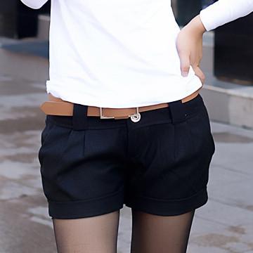 2012 spring and autumn brief elegant all-match roll up hem fashion women's woolen shorts