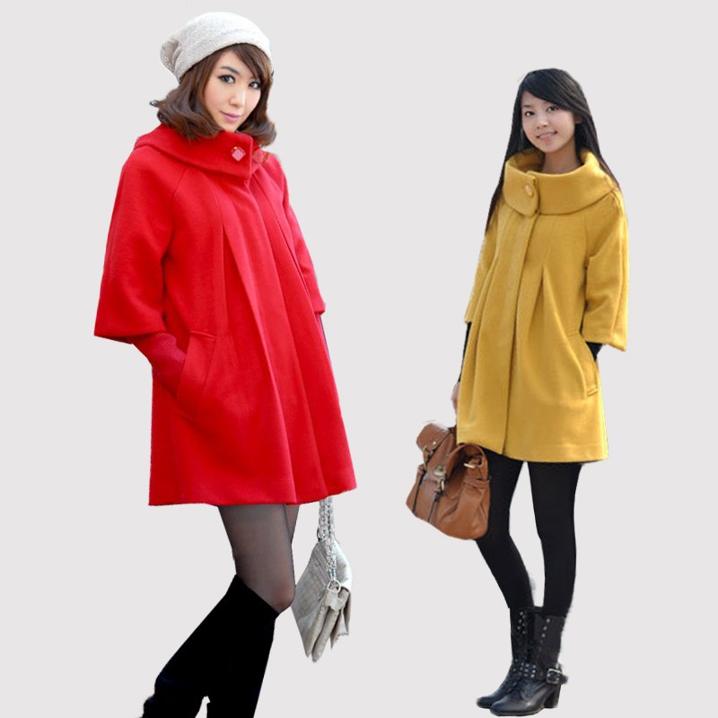 2012 spring and autumn maternity clothing wadded jacket winter dual three quarter sleeve overcoat medium-long outerwear