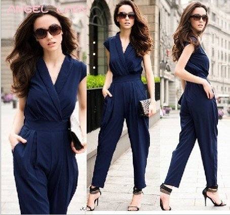 2012 spring and summer England autumn explosion models fashion waist jumpsuit