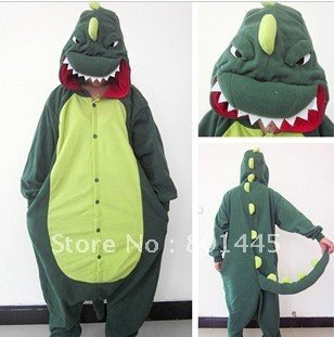 2012 Spring Autumn dinosaur design adult romper nonopnd one piece stretchy sleepers polar fleece for 98~185cm free shipping