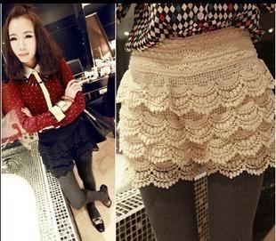 2012 summer high quality universal crochet shorts lace shorts women's single-shorts