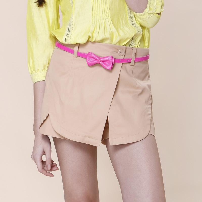 2012 summer new arrival women's irregular patchwork short trousers fashion legging skirt 2121060090