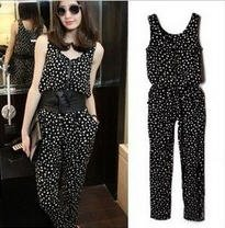 2012 Summer new Europe and America fashion Harlan zipper jumpsuit A071