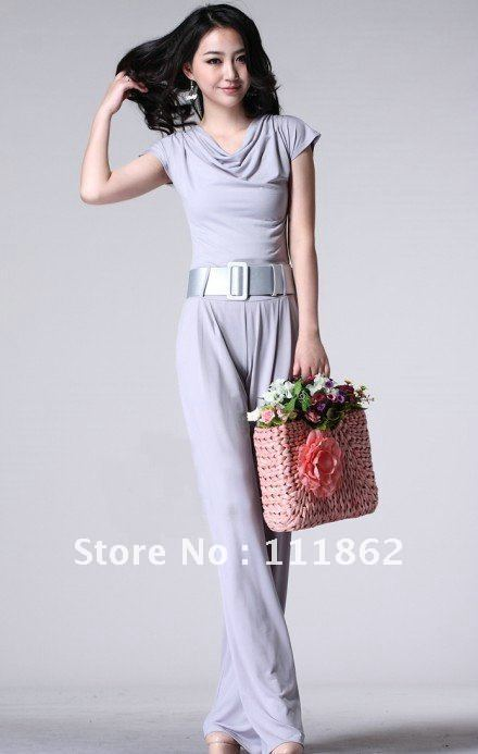 2012 summer new European and American fashion women large size jumpsuit